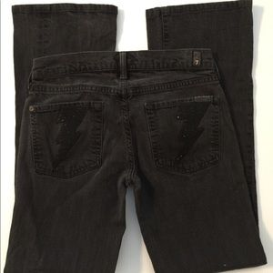 7 for All Mankind Bootcut Jeans, Sz 26 Black